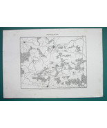 1846 MAP - FRANCE Environs of Wattignies Maubeuge Bavay Jeumont Avesnes - $14.85