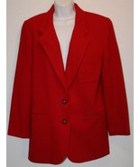"NWT CHARTER CLUB Red Wool Blazer Jacket Sz 12 Coat Chest: 43"" NEW $132 W... - $38.55"