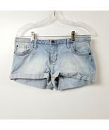 Forever Twenty One Womens Denim Jean Shorts 29 Measures 32 Low Rise Ligh... - $13.98