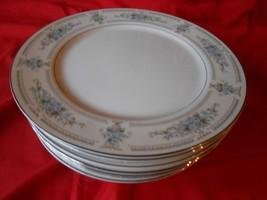 "WADE Fine Porcelian China ""Elington"" Set of 8 DINNER Plates - $45.45"