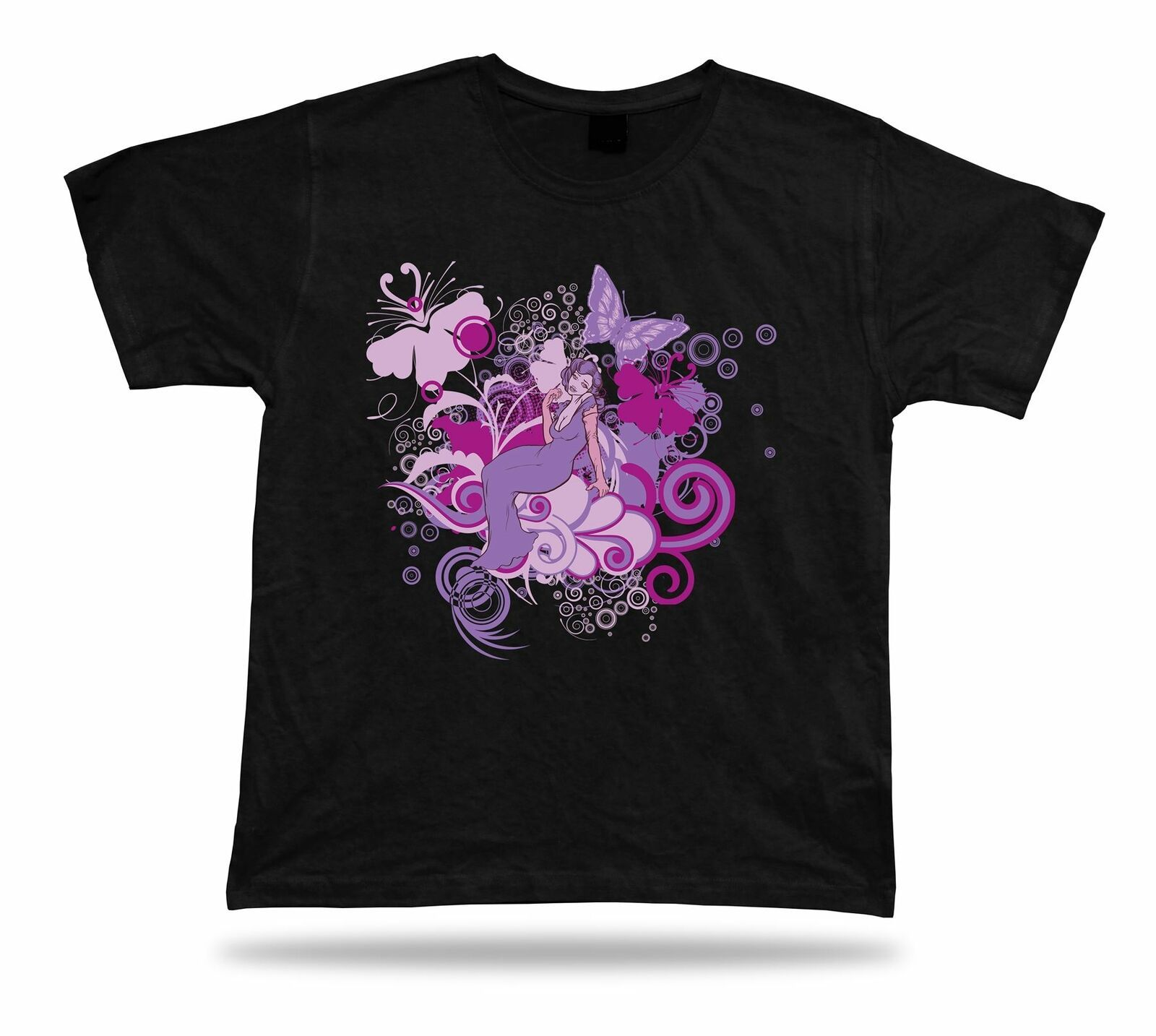 Primary image for Mega Star Butterfly Floral tee awesome cool modern t shirt tee design apparel