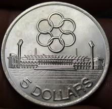 Singapore 5 Dollars, 1973 Gem Unc Silver~SEAP Games~250,000 Minted~Free ... - $19.59