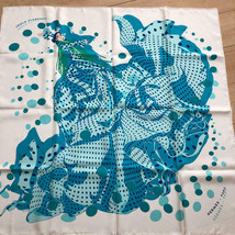 "Hermes Scarf Hola Flamenca 90 cm Silk Blue Carre Shawl 35"" Flamenco - $385.11"