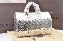 LOUIS VUITTON Monogram Miroir Argent Speedy 30 Hand Bag M95271 Auth sa1593 - $4,980.00