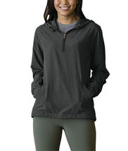 Women's Pullover Water Resistant Quarter Zip Up Drawstring Hood Pullover  XL image 5