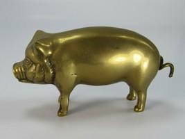 Vintage Brass Pig Hog Sow Paperweight 30035 - $44.54