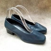 """Easy Spirit Womens Auburn  Sz 8 D Blue  Leather Slip On Loafer 1.5"""" Block Heels - $29.99"""