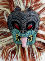 Paper Magic Full Head Latex Tikki Mask w/ two Tone Synthetic Hair 2003 - $27.43