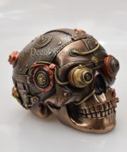 Steampunk Skull Trinket Jewelry Box Big Beautiful Bronze * Free Shipping  - $117.81