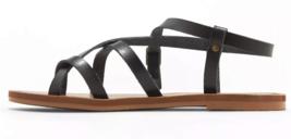 Universal Thread Women's Black Lavinia Toe Wrap Thong Flat Summer Sandals NEW image 2