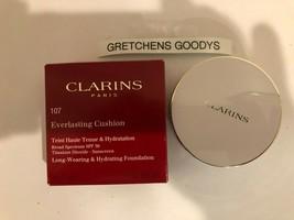 Clarins Everlasting Cushion Foundation #107 Beige NIB .5 oz SPF 50 - $18.20