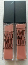 Two Maybelline Color Sensational Vivid Matte Liquid Lip Color #5 Nude Th... - $9.49