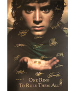 Lord of The Rings Signed Movie Poster  - $185.00