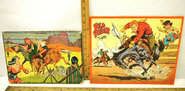 Vintage 1951 Jaymar Red Rider + Built Rite #18 Flash Gordon Puzzles - $27.81