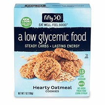 Fifty50 Foods Low Carb, Low Glycemic, Hearty Oatmeal Cookies, 7 Ounce - $11.00