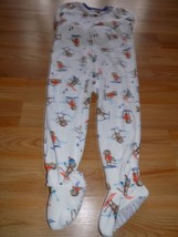 Size 4T Carter's Winter Footed Blanket Sleeper Pajamas White Snow Monkey... - $12.00