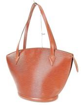 Auth LOUIS VUITTON Saint Jacques Large Brown Epi Leather Shoulder Bag #32917 - $329.00