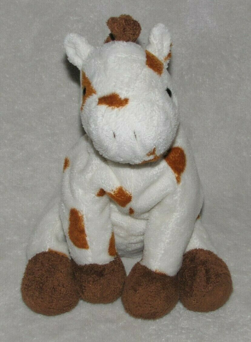 Primary image for Ty Pluffies Lasso Stuffed Plush Horse Pony White Brown Tan Spot 2005 Pinto Beans