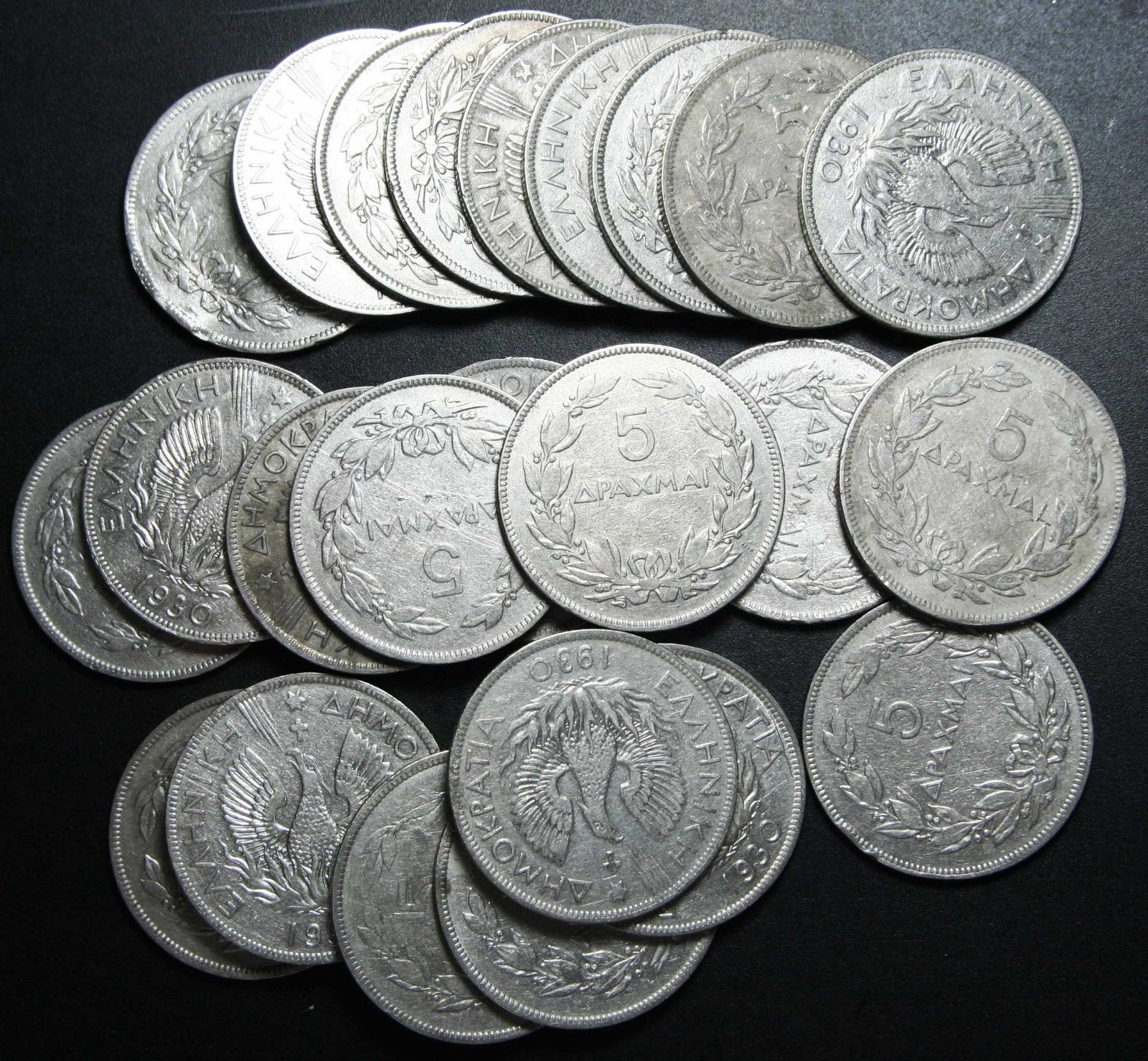 Lot of 24 Coins 5 Drachmai Phoenix Lot # N 514