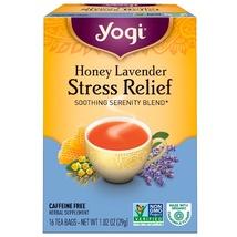 Yogi Tea, Honey Lavender Stress Relief, Caffeine Free 16 Tea Bags 1.02 o... - $4.00