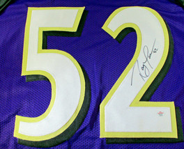RAY LEWIS / NFL HALL OF FAME / AUTOGRAPHED BALTIMORE RAVENS CUSTOM JERSEY / COA image 3