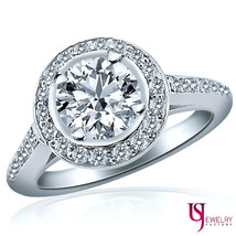 100% Natural Round Cut Diamond Engagement Ring 14k Gold 1.38 Carat (0.98... - €3.614,56 EUR