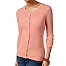 4572-2 Tommy Hilfiger Peach Women's Medium Cardigan Sweater M, $69 - $52.52 CAD