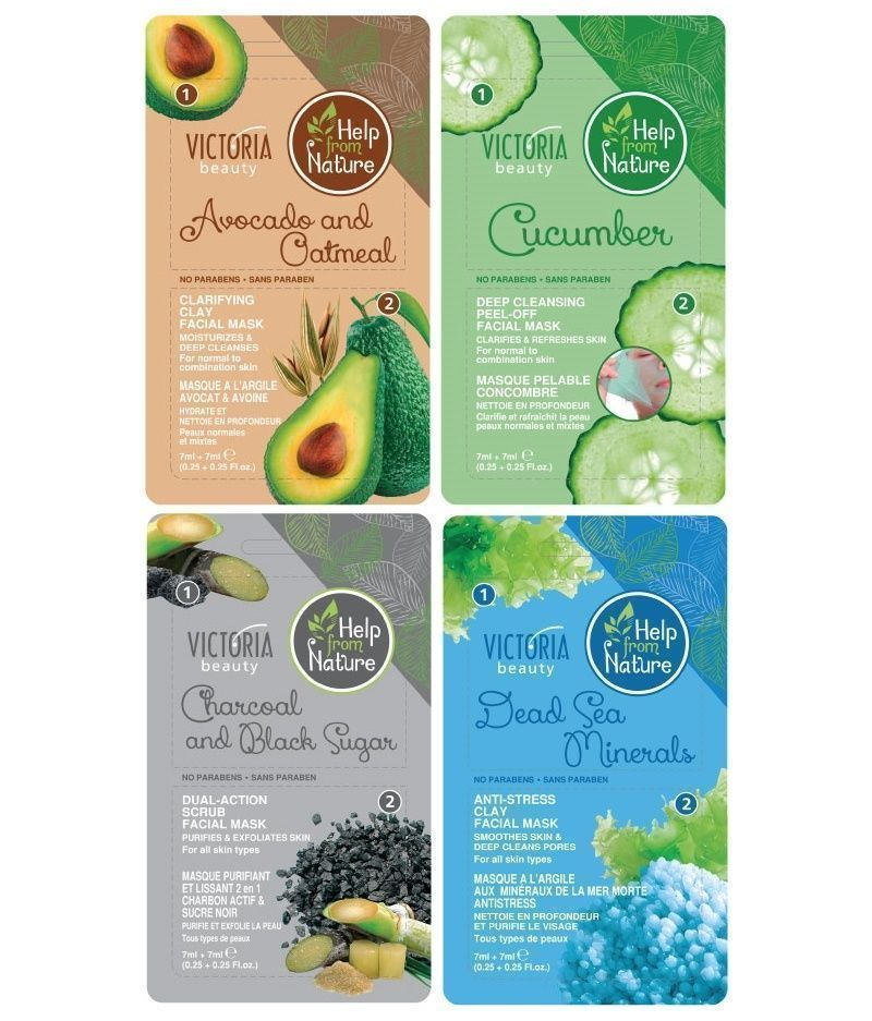 Victoria Beauty Help from Nature Face Masks & Scrubs - for All Skin Types 14ml - $4.57