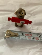 """1991 HALLMARK Christmas Ornament Puppy Dog With Rolling Pin 1.5"""" Non-han... - $23.38"""
