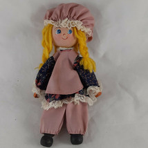 Vintage Wooden Doll Handmade Yarn HairHand painted face clothespin and ... - $5.93