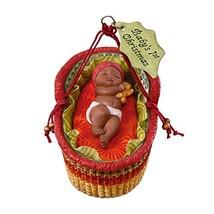 Hallmark Keepsake Ornament 2018 Year Dated, African American Baby's First Christ - $6.93
