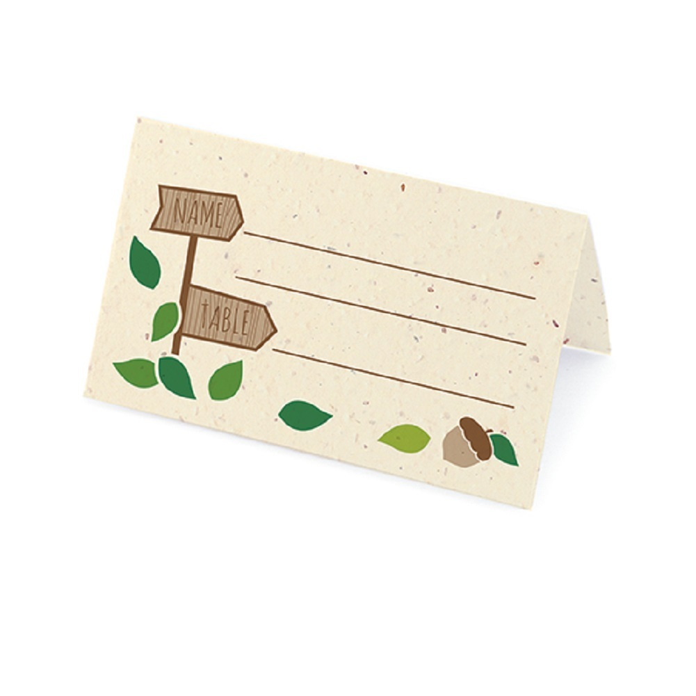 Rustic Tree Plantable Place Card with Wildflower Seed Blend - Green (Pack of 50)