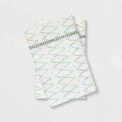 KING Cotton Percale Printed Pillowcase Set Sayulita White Green - Opalhouse