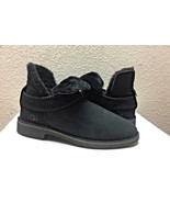 UGG MCKAY BLACK SUEDE SHEARLING ANKLE BOOTS US 8.5 / EU 39.5 / UK 6.5 - NEW - $139.32