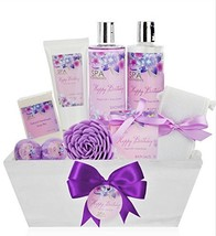 Birthday Gift Basket Spa Kit - Spa Basket Bath & Body Birthday Basket Gi... - $32.16