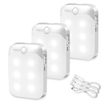 TOMSOO Rechargeable Motion Sensor Light, 6-LED Stick Anywhere Wireless S... - $31.45