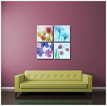 "Pingo World 0816Q8CTR2G ""Flowers Under Ice"" Gallery Wrapped Canvas Wall Art Set, - $48.46"