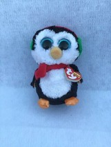 "TY Beanie Boos NORTH the Penguin w/ Glitter Eyes 6"" Beanbag Plush Toy - $14.75"