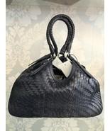 "COLE HAAN Purple ""Estate Genevieve Unit Triangle Tote"" Leather Handbag NWT - $228.33"