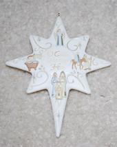 "Star O Come Let Us Adore Him Christmas Ornament Holiday Decoration 4.5"" ... - $8.86"