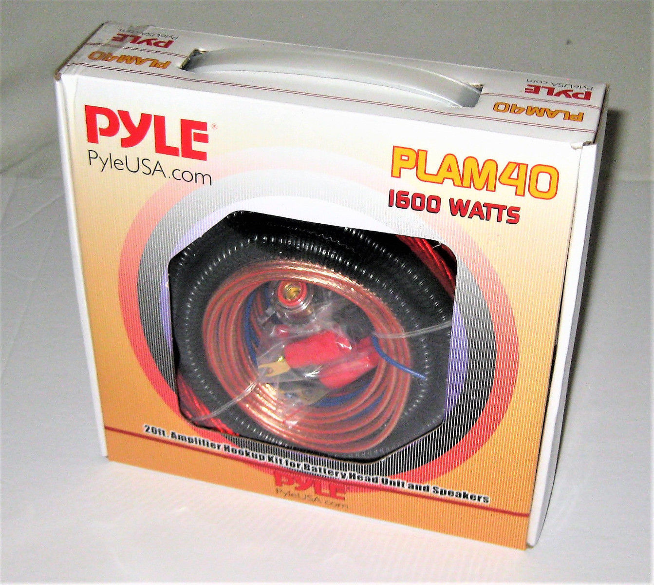 Pyle PLAM40 20-Feet 4 Gauge 1600W Amplifier Hookup For Battery Head Unit and Speakers Installation Kit