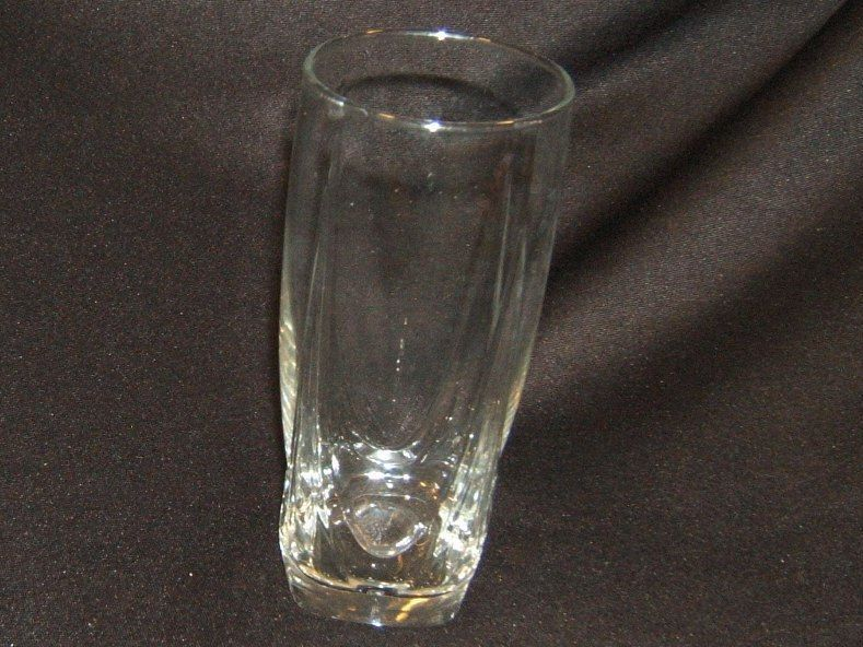 Designer Water Glass Solid Base 6-3/4in x 3in x 3in Clear Classic