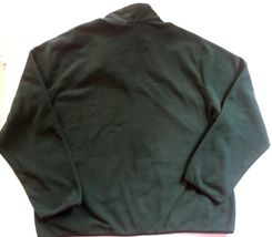 IZOD Full-Zip Polar Fleece Jacket Big & Tall Hunter Green w/ Black Trim 2XLT $70 image 12