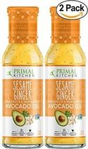 Primal Kitchen's Sesame Ginger Vinaigrette & Marinade, 8 oz, Pack of 2
