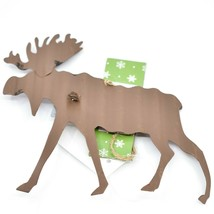 Holiday Bliss Rustic Metal Moose Christmas Ornament image 2