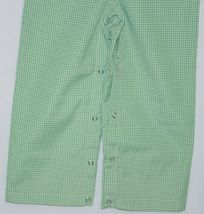 Ellie O Gingham Full Lined Longall Size 2 Color Green Cotton Polyester Blend image 3