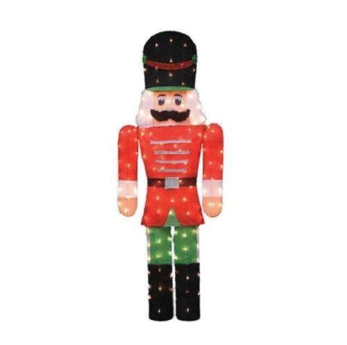 """Amazon.com: 65"""" Lighted Sparkling Tinsel Nutcracker ...   Lighted Nutcracker Soldier"""