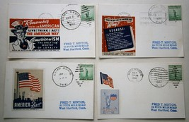 (4) 1942 WWII Patriotic Postal Covers from Camp Davis, MacDill Field, Ca... - $18.00