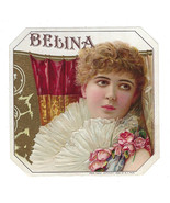 Vintage BELINA OUTER CIGAR LABEL Beautiful LADY Woman EMBOSSED Flowers F... - $49.49