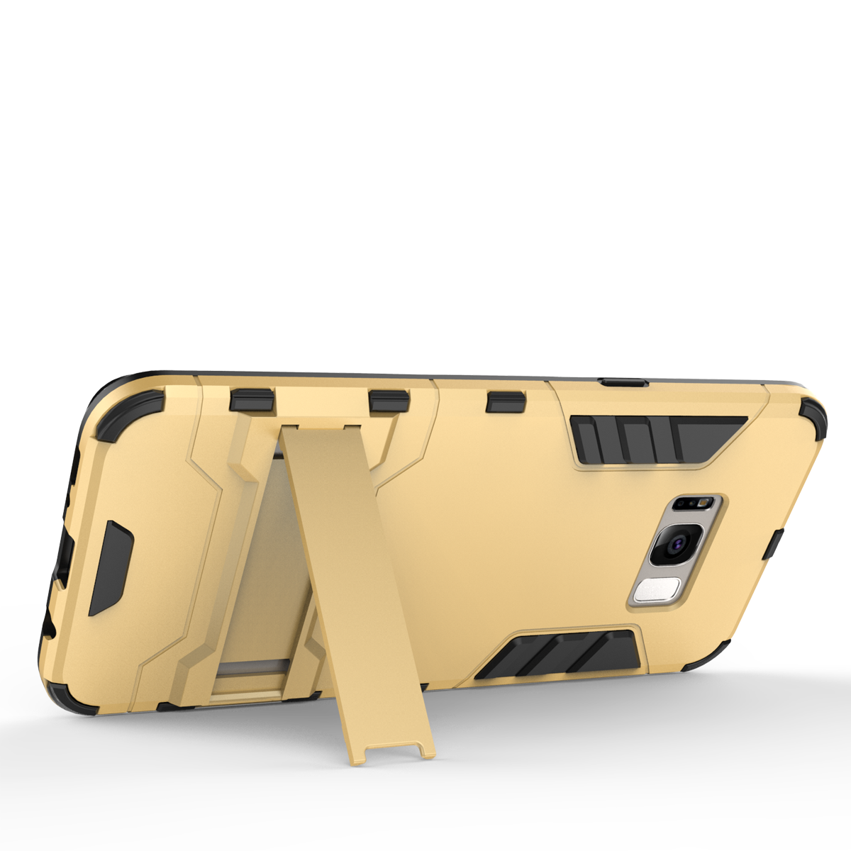 Defender Protective Case Cover with Kickstand for Samsung Galaxy S8 - Gold